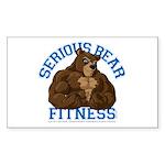 Serious Bear Sticker (Rectangle)
