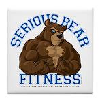 Serious Bear Tile Coaster