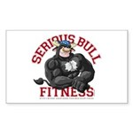 Serious Bull Sticker (Rectangle)