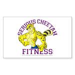 Serious Cheetah Sticker (Rectangle 10 pk)