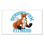 Serious Fox Sticker (Rectangle)