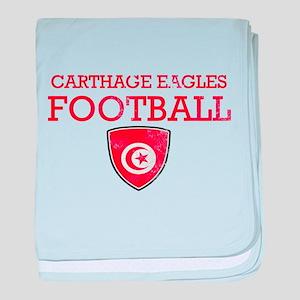Tunisia Football baby blanket