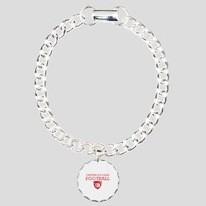 Tunisia Football Charm Bracelet, One Charm
