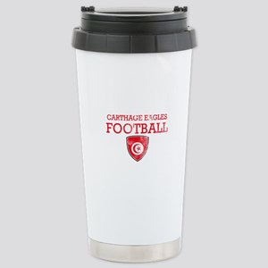 Tunisia Football Stainless Steel Travel Mug