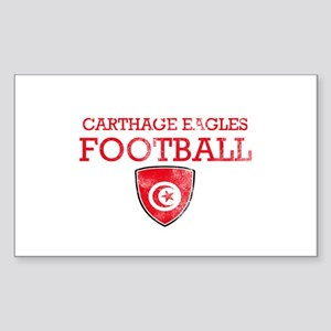 Tunisia Football Sticker (Rectangle)