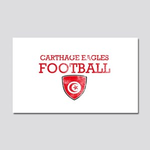 Tunisia Football Car Magnet 20 x 12