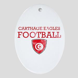 Tunisia Football Ornament (Oval)