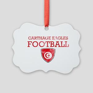 Tunisia Football Picture Ornament