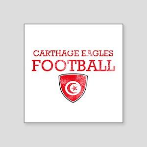 """Tunisia Football Square Sticker 3"""" x 3"""""""