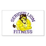 Serious Lion Sticker (Rectangle)