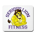Serious Lion Mousepad
