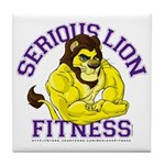 Serious Lion Tile Coaster