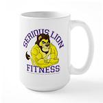 Serious Lion Large Mug