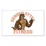 Serious Otter Sticker (Rectangle)