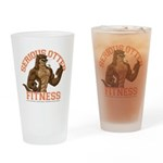 Serious Otter Drinking Glass