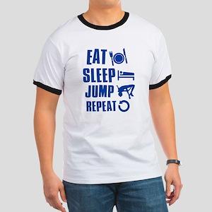 Eat Sleep Jump Ringer T