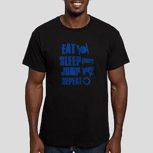 Eat Sleep Jump Men's Fitted T-Shirt (dark)