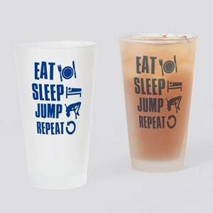 Eat Sleep Jump Drinking Glass