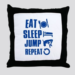 Eat Sleep Jump Throw Pillow