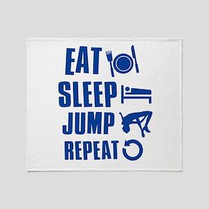 Eat Sleep Jump Throw Blanket