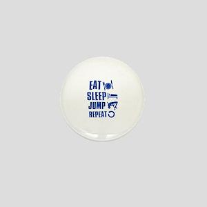 Eat Sleep Jump Mini Button