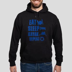 Eat Sleep Kayak Hoodie (dark)