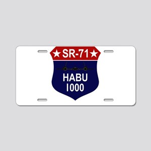 SR-71 Aluminum License Plate