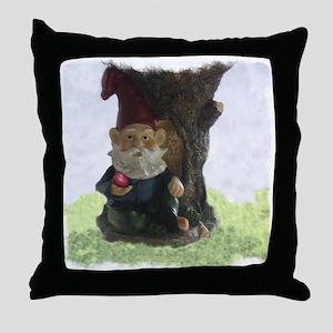 THE FRIENDLY GNOME Throw Pillow