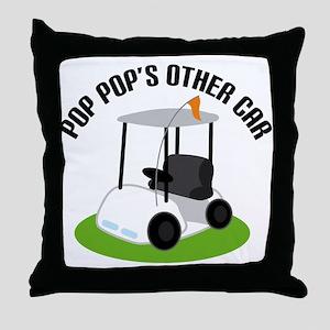 PopPop Golf Cart Throw Pillow