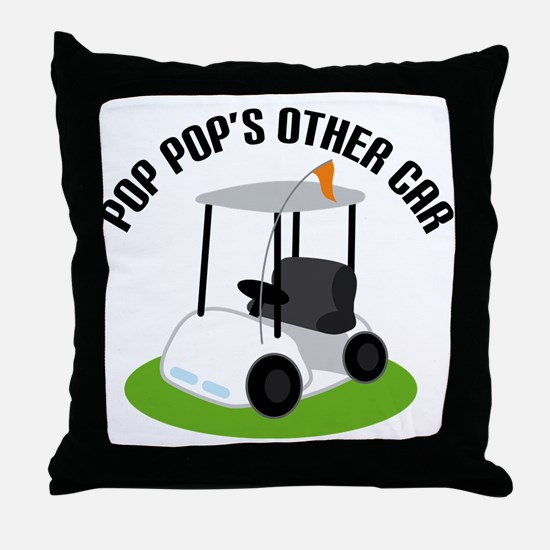 PopPop Golf Cart Throw Pillow