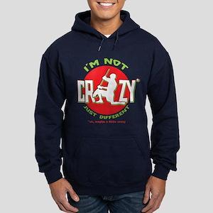 Im Not Crazy (lacrosse) Hoodie (dark)