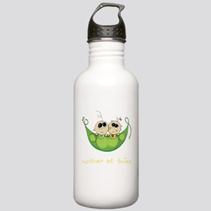 Mother of Twins, Boy/Girl Stainless Water Bottle 1