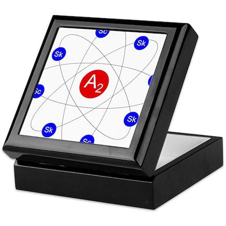 Ann Arbor Science and Skeptics Logo Keepsake Box