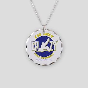 I'm Not Crazy (hockey) Necklace Circle Charm