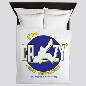 I'm Not Crazy (hockey) Queen Duvet