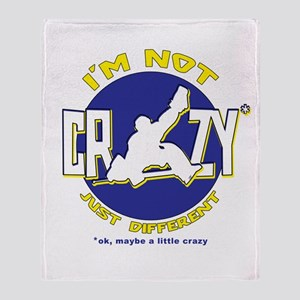 I'm Not Crazy (hockey) Throw Blanket