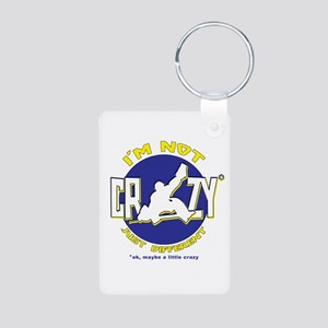 I'm Not Crazy (hockey) Aluminum Photo Keychain