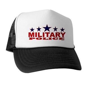26bfd6b05f6 Basic Training Military Police Trucker Hats - CafePress