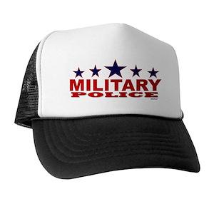7ed99cecb6f Basic Training Military Police Trucker Hats - CafePress
