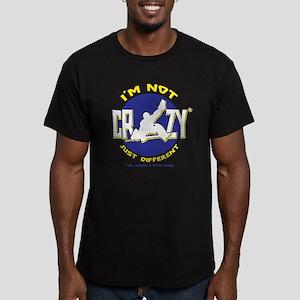 I'm Not Crazy (hockey) Men's Fitted T-Shirt (dark)