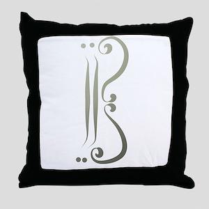 Elegant Alto Clef Throw Pillow
