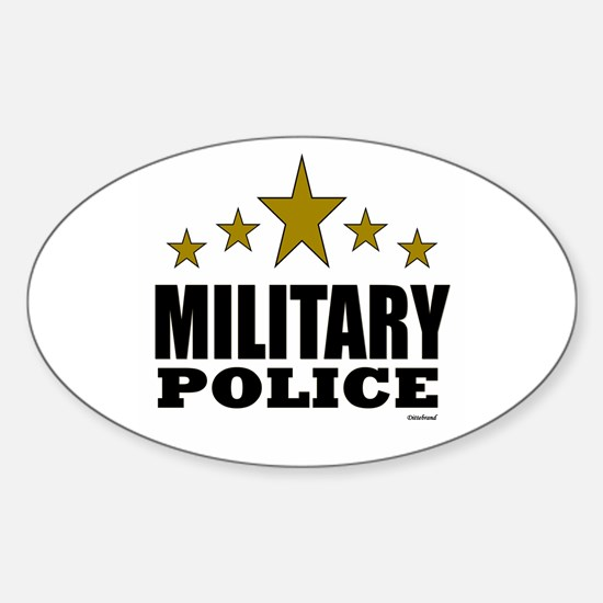 Military Police Sticker (Oval)