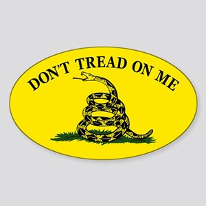 Dont Tread On Me Sticker (Oval)