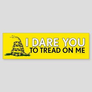 I Dare You to Tread On Me Sticker (Bumper)