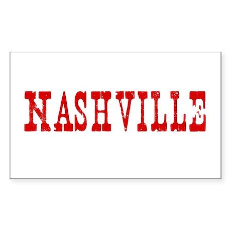 Nashville Tennessee TN - Rectangle Sticker