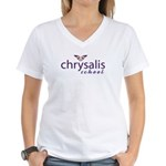 logo_print Women's V-Neck T-Shirt
