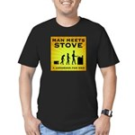 Man Meets Stove Men's Fitted T-Shirt (dark)