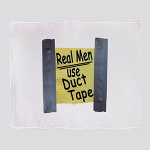 Real Men Use Duct Tape Throw Blanket
