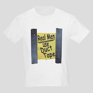 Real Men Use Duct Tape Kids Light T-Shirt