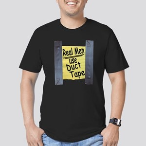 Real Men Use Duct Tape Men's Fitted T-Shirt (dark)